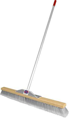 the super sweep is one of the toughest push brooms you can buy you will like the lightweight aluminum handle that does not wear you down but still stands - Push Broom