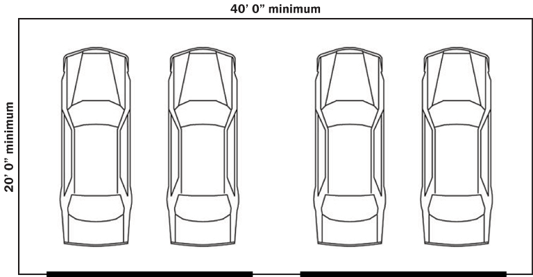 Standard Garage Sizes For 1 2 3 Or 4 Cars With Chart