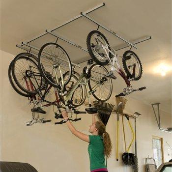 saris cycle glide ceiling bike rack - Garage Bike Rack