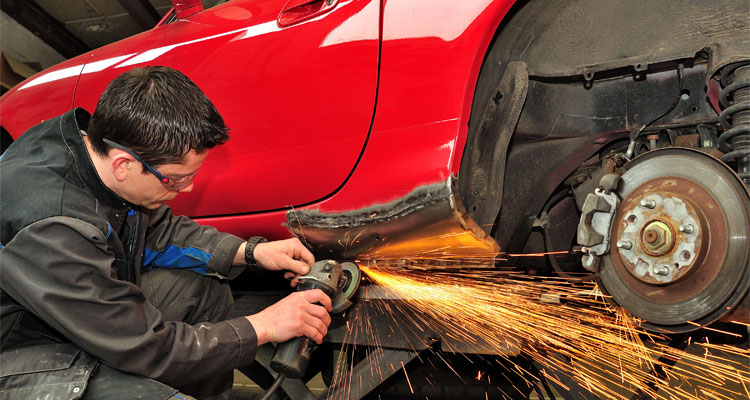 angle grinder for auto body work