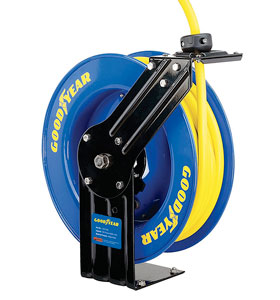 This Goodyear Hose Reel Is Assembled In The USA, With The Reel Made In  China And The Hose Manufactured In The USA. The Hose Included With This  Unit Is ...