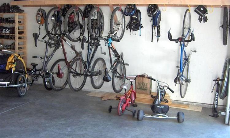 bicycle storage in garage