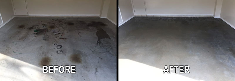 garage floor concrete before after