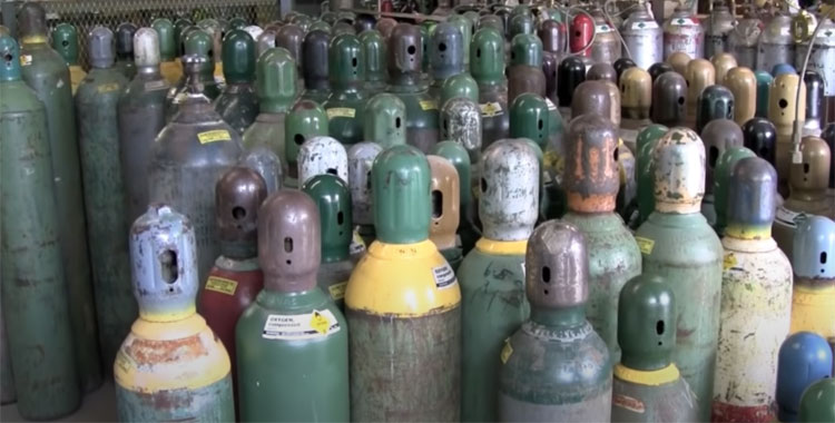 cost to fill oxy acetylene tanks