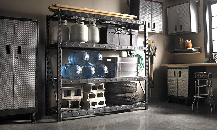 heavy duty garage shelving unit