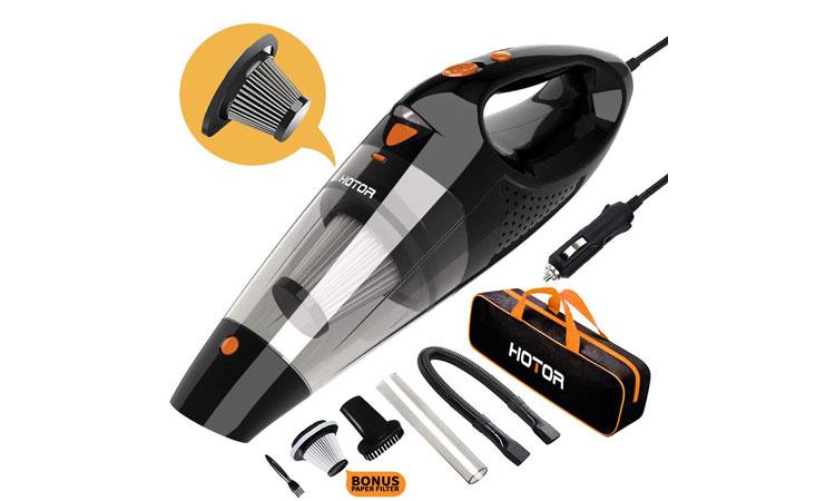 Hotor portable car vacuum