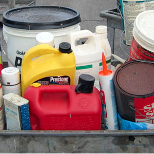 how to dispose of old gas paint or motor oil garage