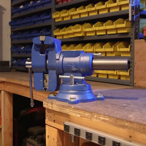 how to mount bench vise