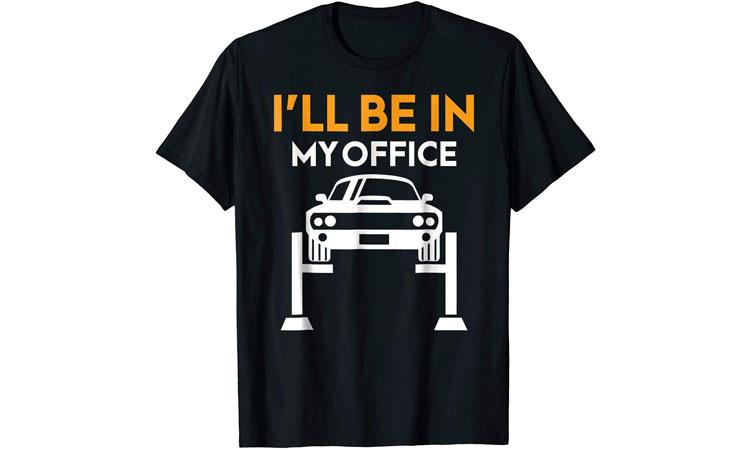 car mechanic office t-shirt