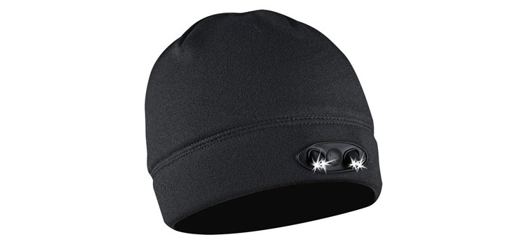 LED beanie cap for winter