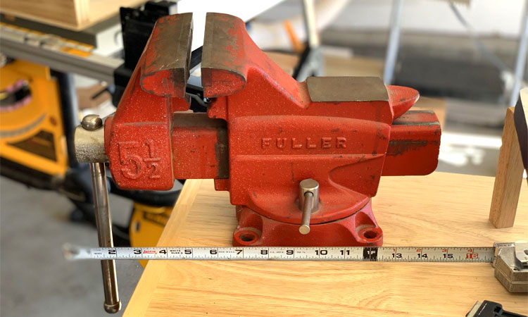 mounting a bench vise
