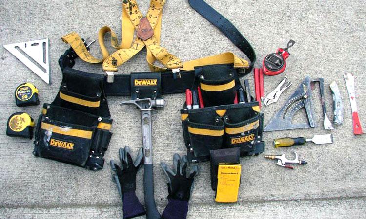 organized tool belt