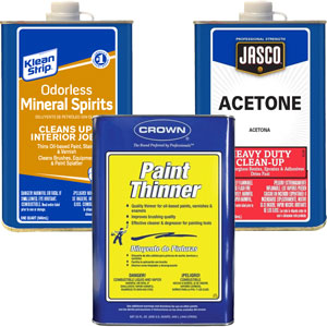 paint thinner vs acetone