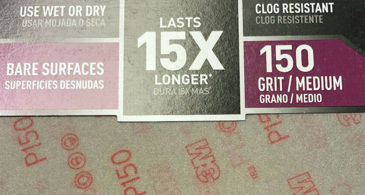 sandpaper grit number