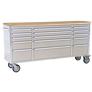 long stainless steel tool cabinet