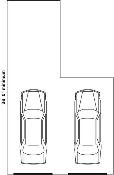 tandem garage dimensions