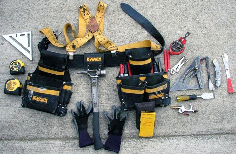 tool belt setup