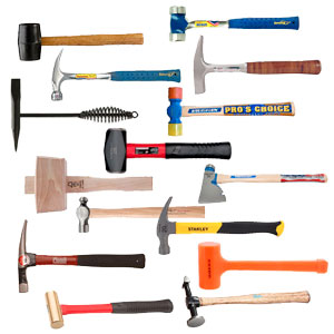 40 Different Types Of Hammers And Their Uses With Pictures Steel granulate in the hammer head prevents rebound and adds additional striking force. 40 different types of hammers and their