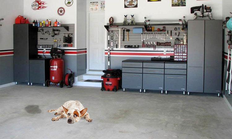 urine smell from garage