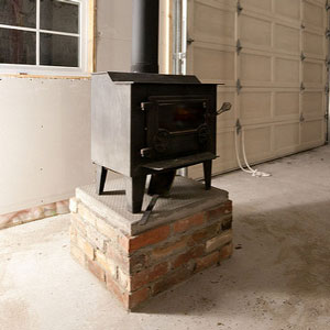 wood stove to heat garage