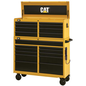 yellow tool cabinet